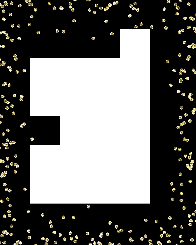 Glitter border png. Gold confetti clip art