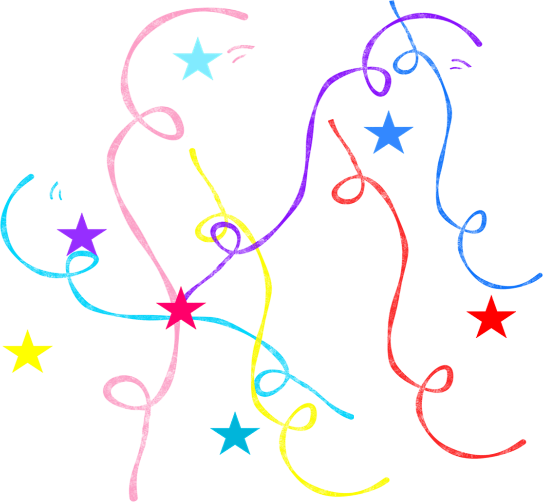 Streamers clipart party horn. Confetti new year clip