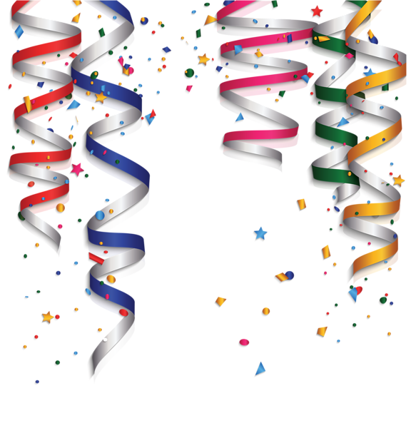 Birthday decoration png picture. Streamers clipart party favor