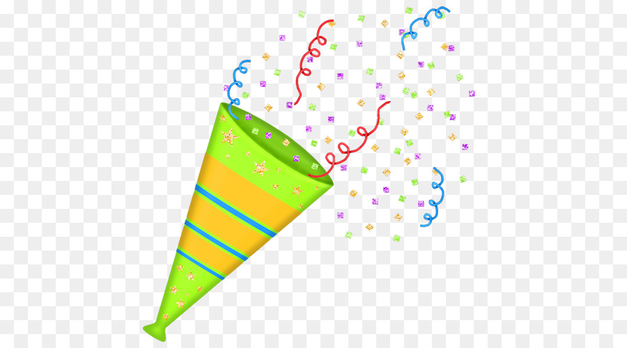 Streamers clipart party horn. Hat cartoon confetti paper