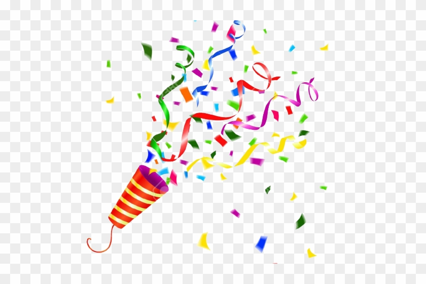 Streamers clipart party horn. Confetti popper png