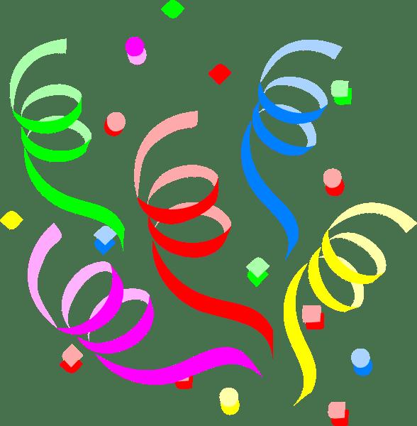 Streamers clipart party popper. Confetti new year clip