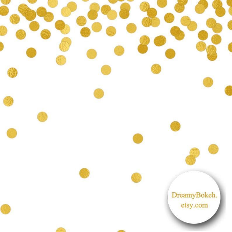Confetti clipart small. Gold foil digital paper
