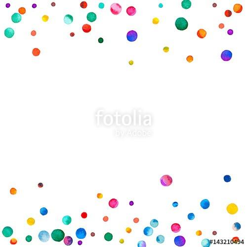 Confetti clipart sparse. Watercolor on white background