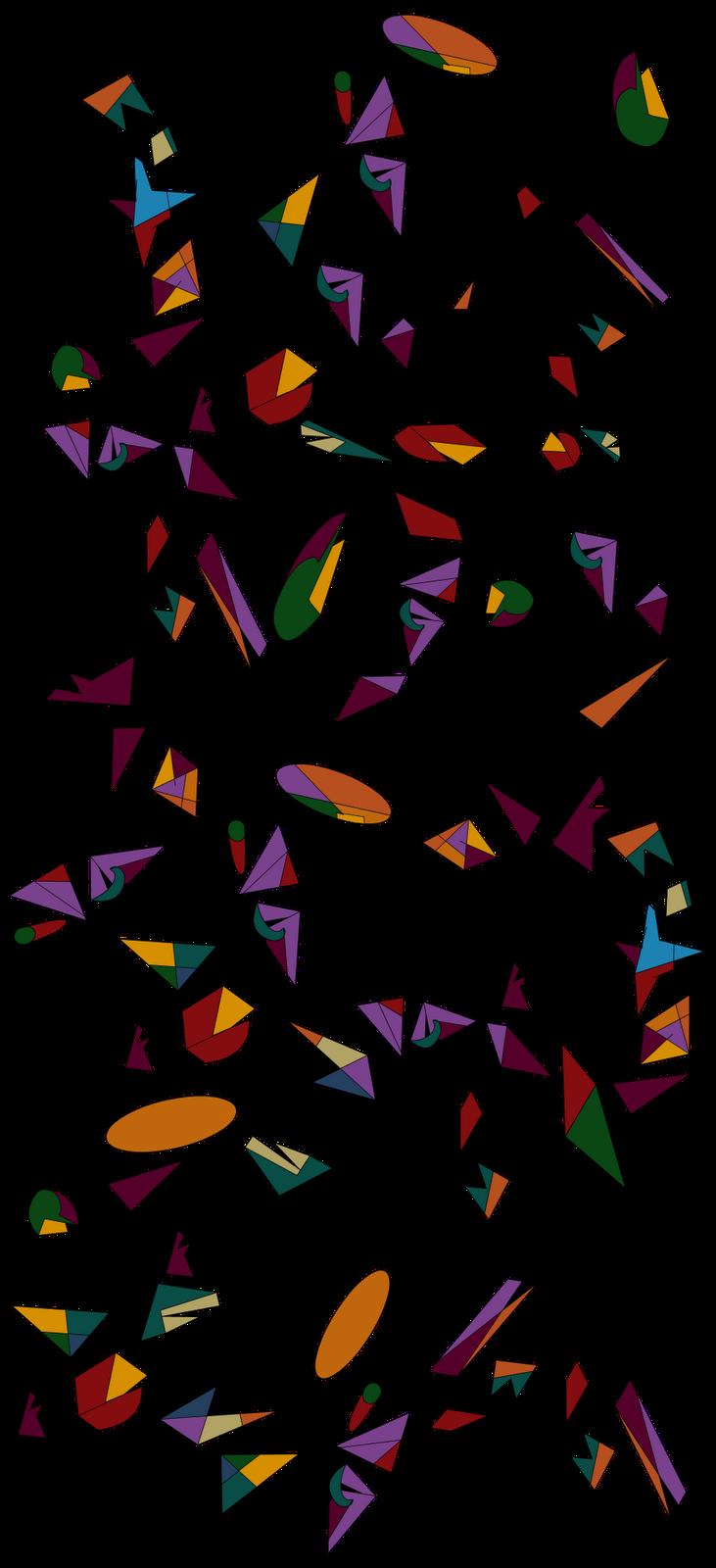 Confetti clipart sparse. A n s asethetics