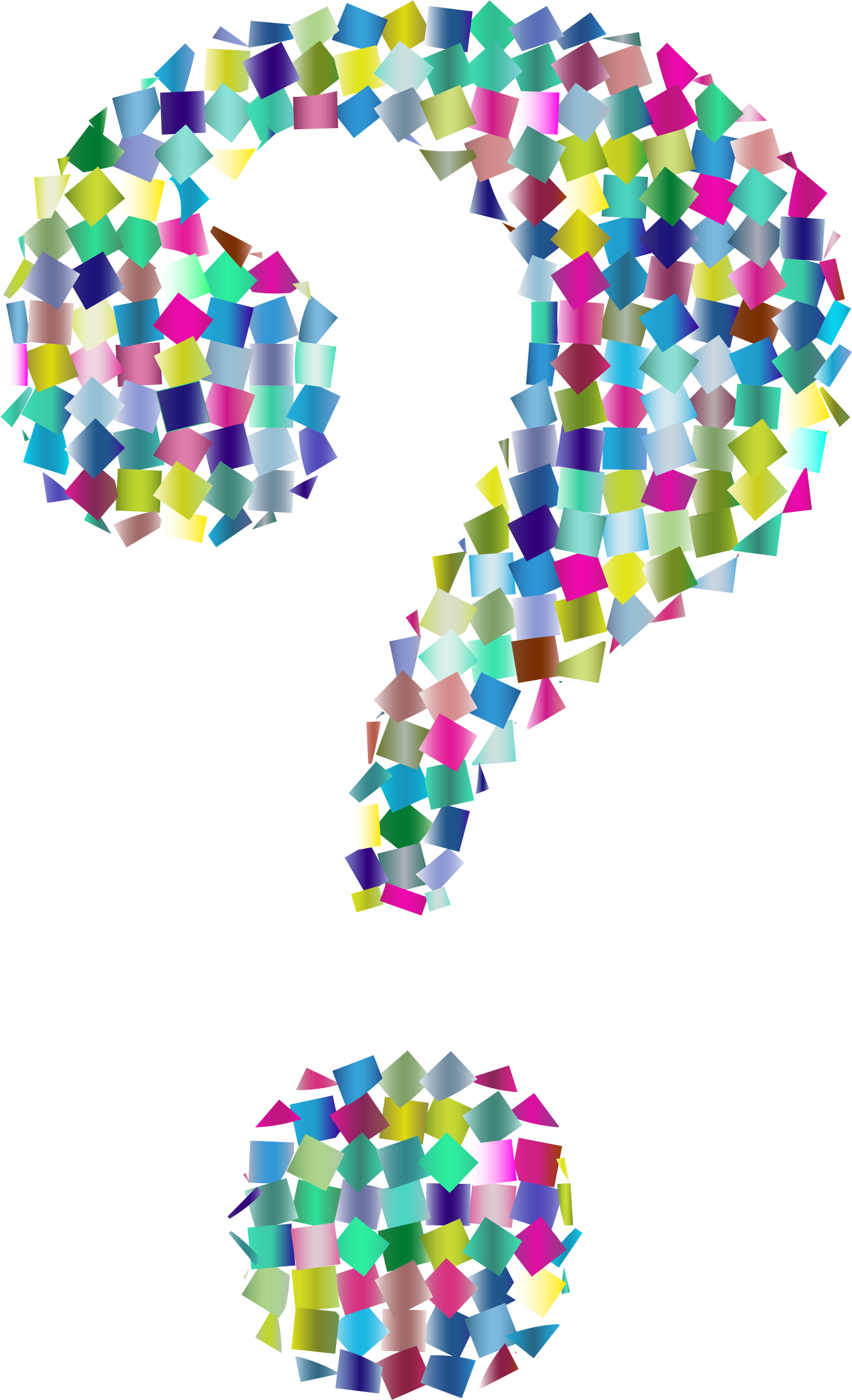 Confetti clipart sprinkles. Prismatic question mark icons