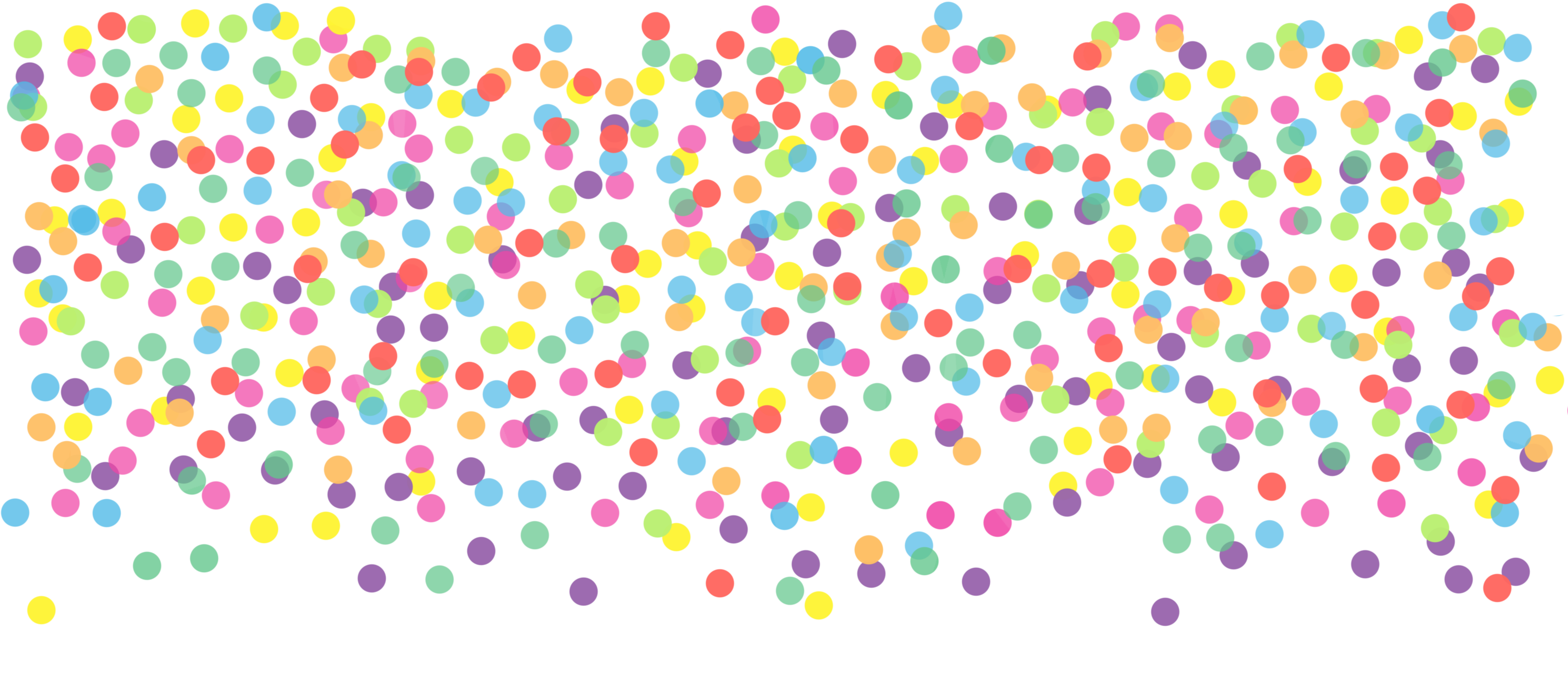 Pbl confetti dots rainbow. Streamers clipart sprinkle