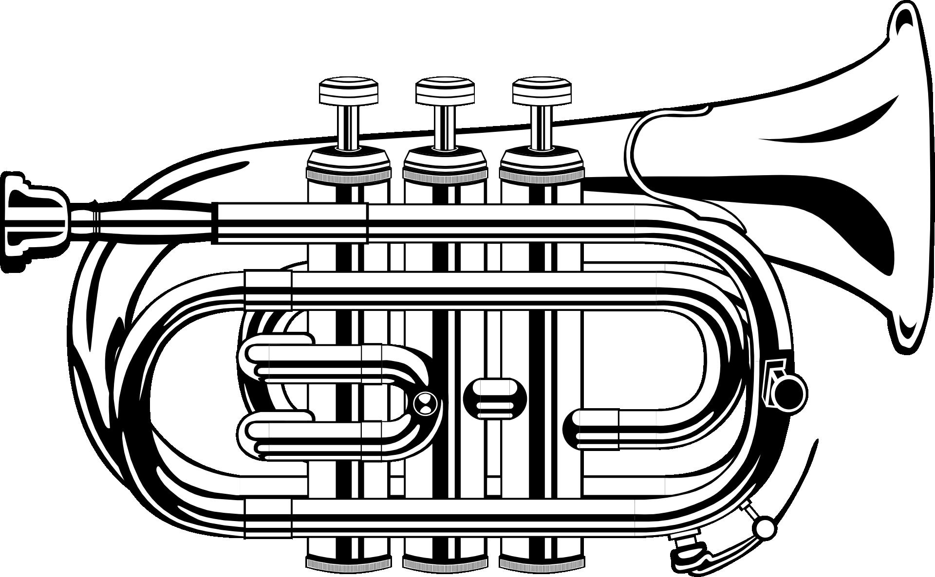 Confetti clipart trumpet. Black and white clip