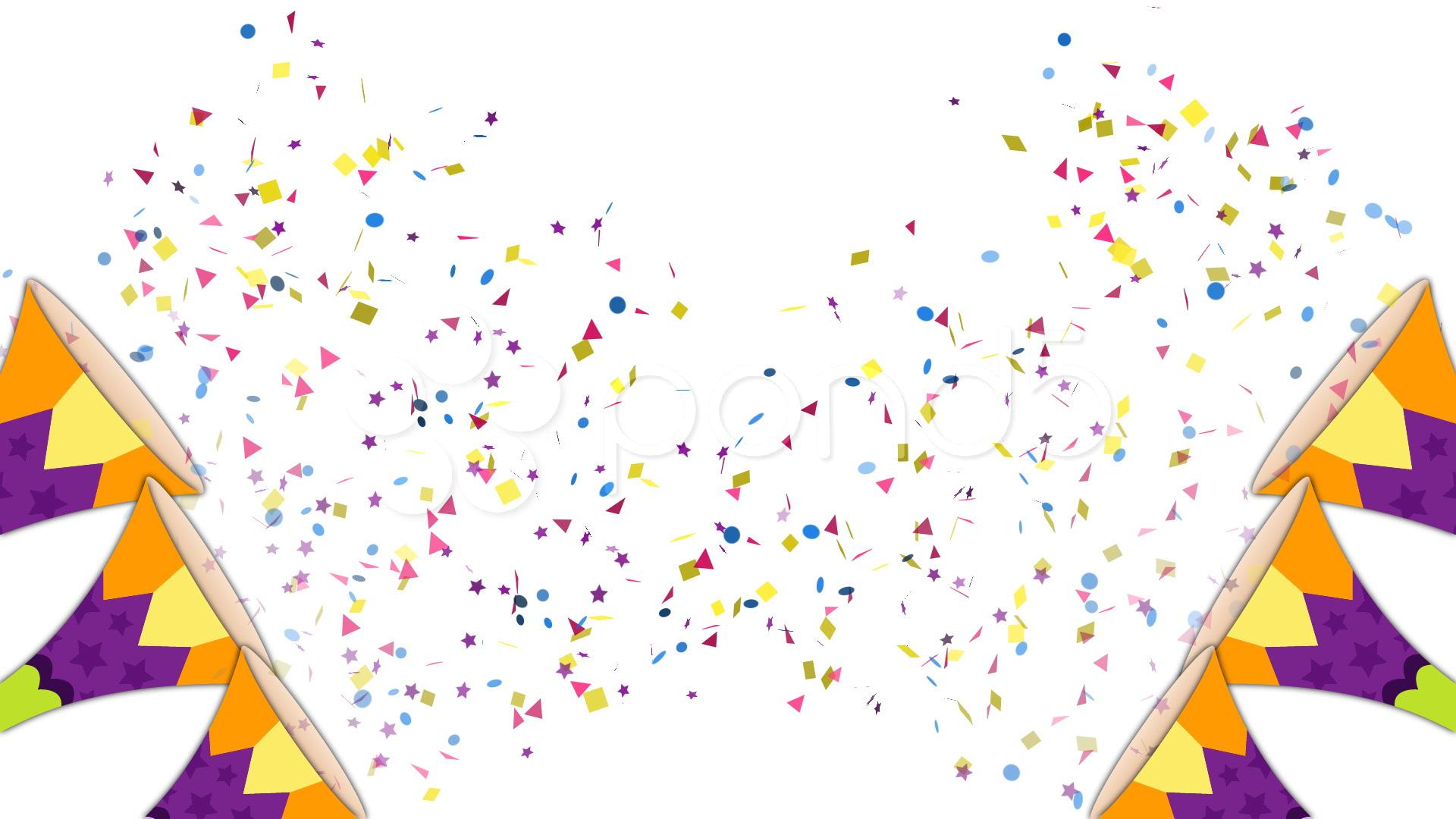 Confetti clipart trumpet. Hd
