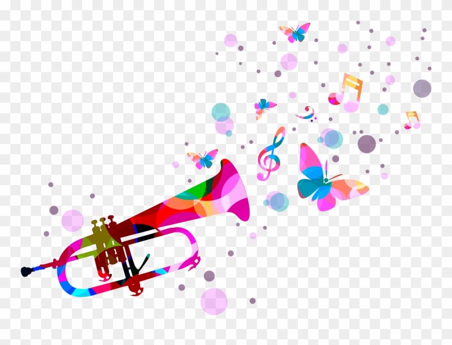 Quotation music png . Confetti clipart trumpet