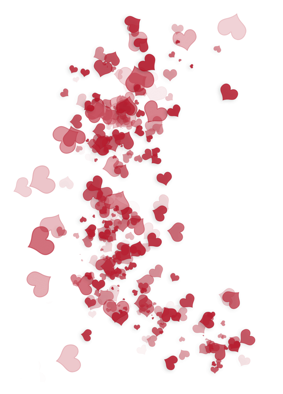 Confetti clipart valentines. Transparent red heart ornaments