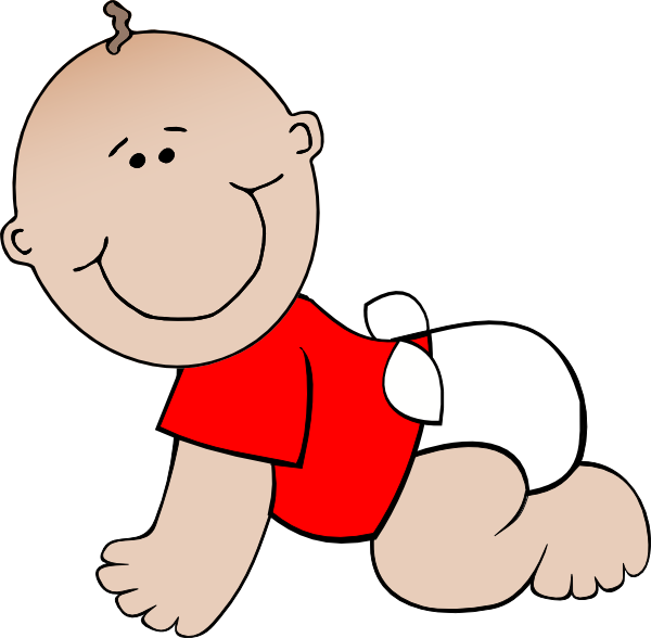Baby clip art at. Infant clipart red haired boy