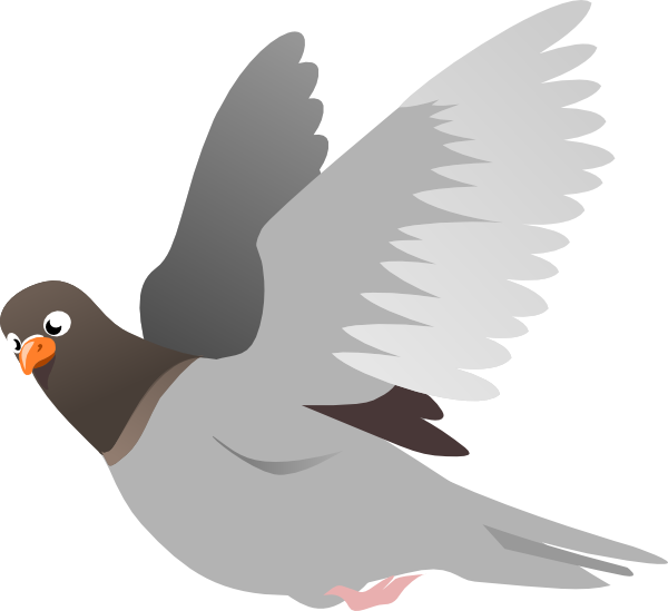 Fly clipart animated. A flying pigeon clip