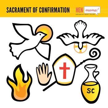 Sacrament of clip arts. Oil clipart confirmation