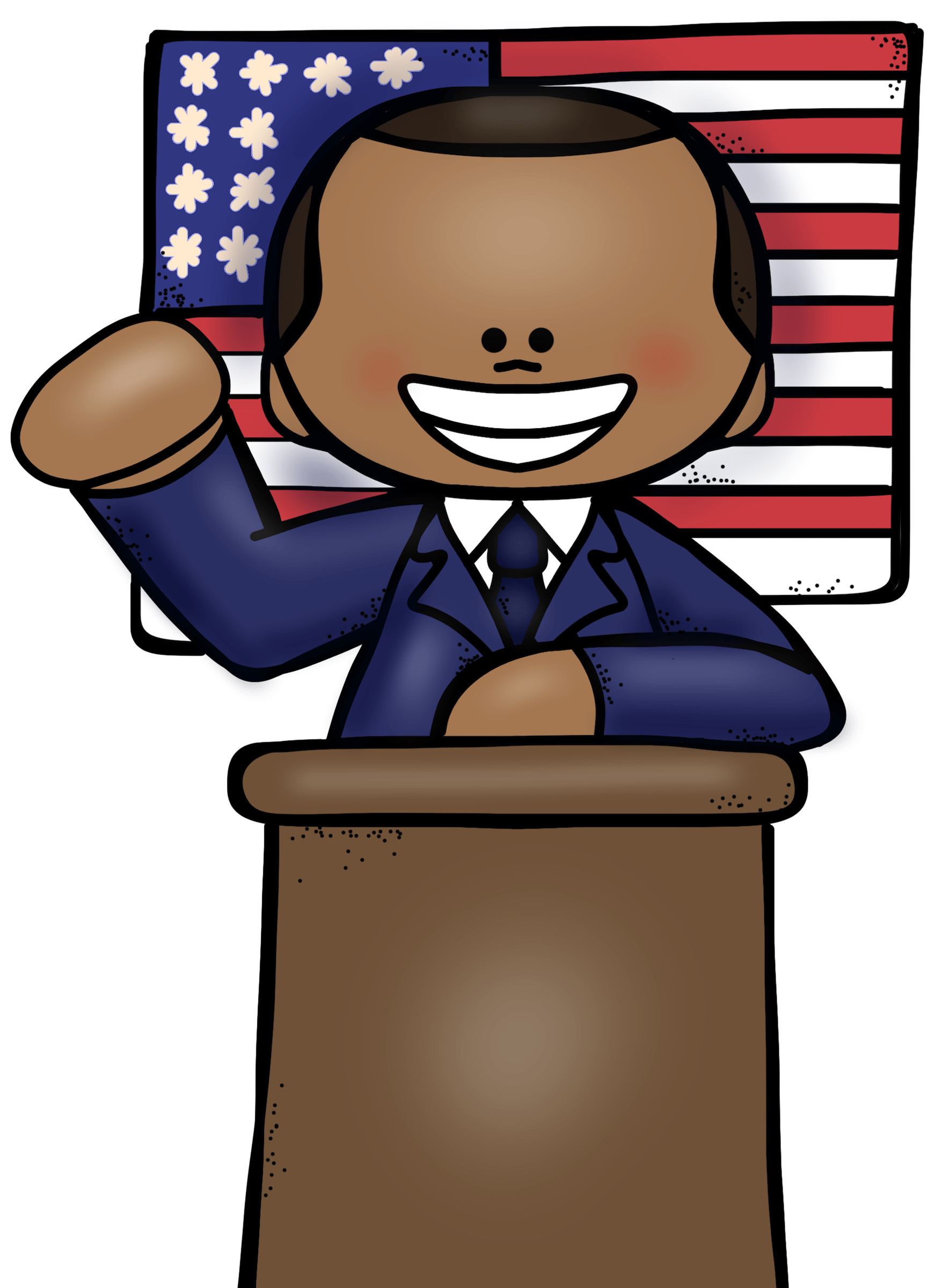 Col welcome to educlips. Girls clipart president