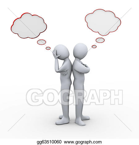 Conflict clipart. Stock illustration d people