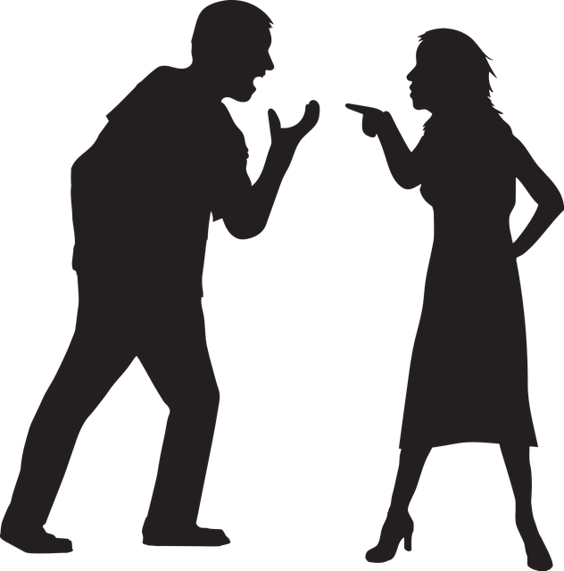 How to handle an. Yelling clipart argument