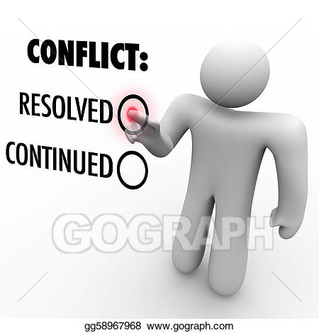 Stock illustration choose to. Conflict clipart conflict resolution