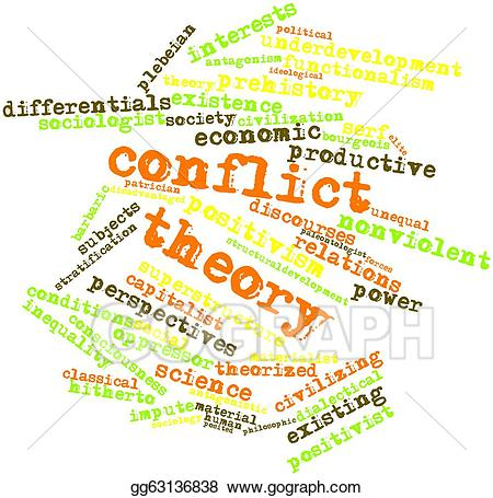 Conflict clipart conflict theory. Stock illustration gg