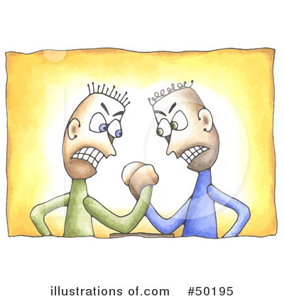 Conflict clipart disagreement. Illustration by c charley
