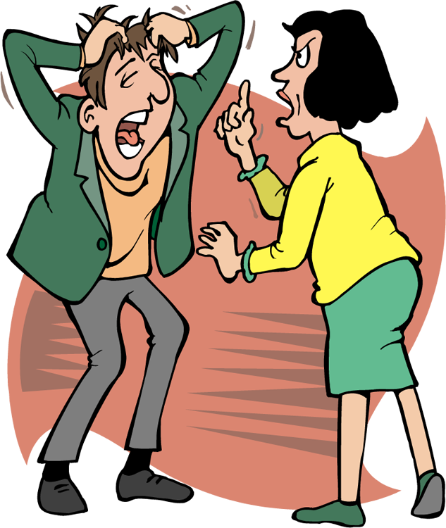 Fighting clip art library. Conflict clipart family fight