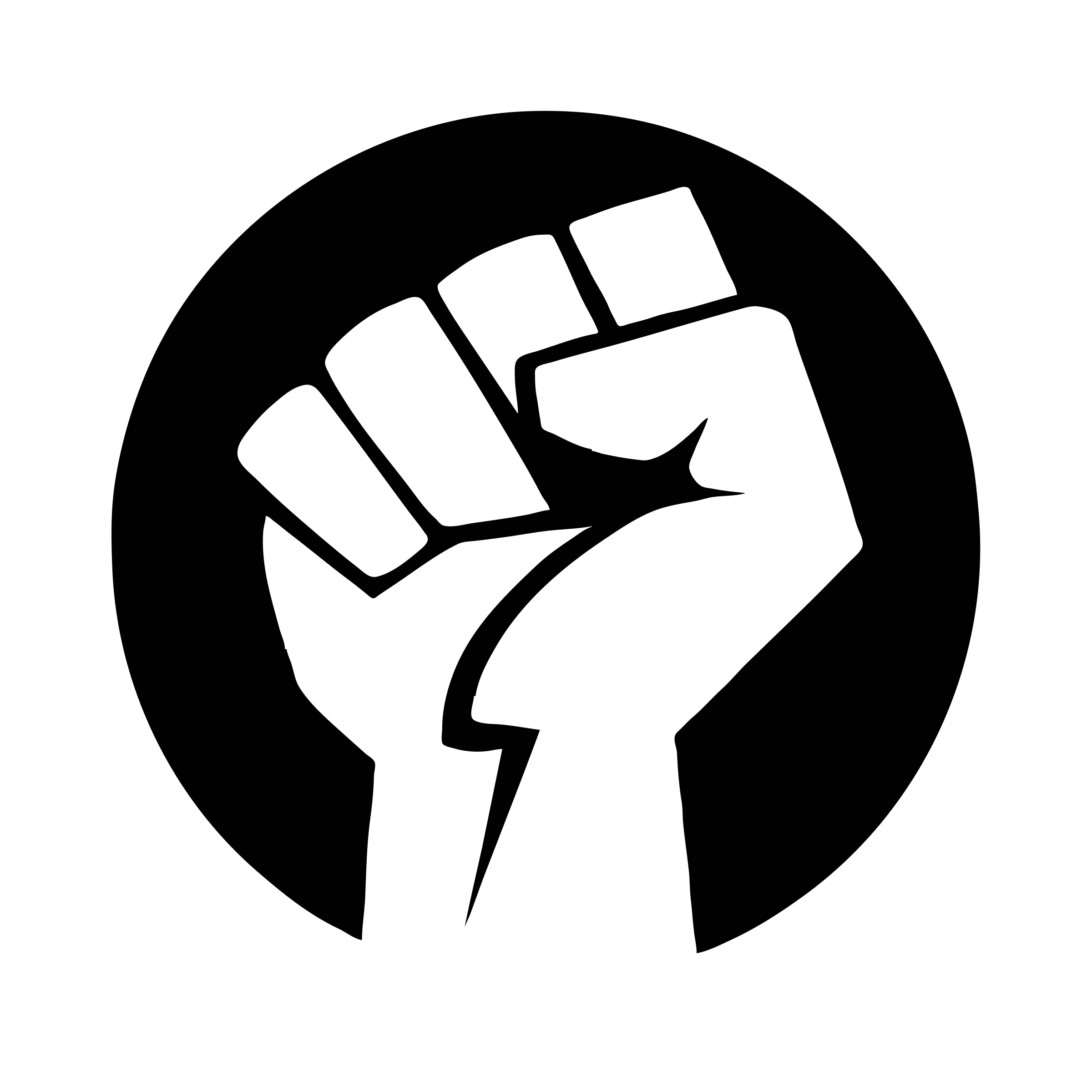 Power fist bw png. Positive clipart black and white