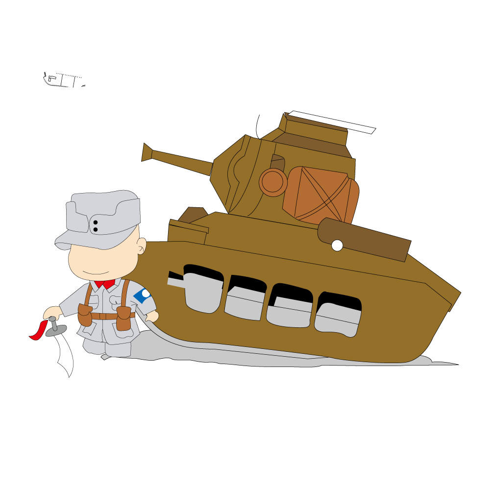 Conflict clipart illustration. War tank cartoon free