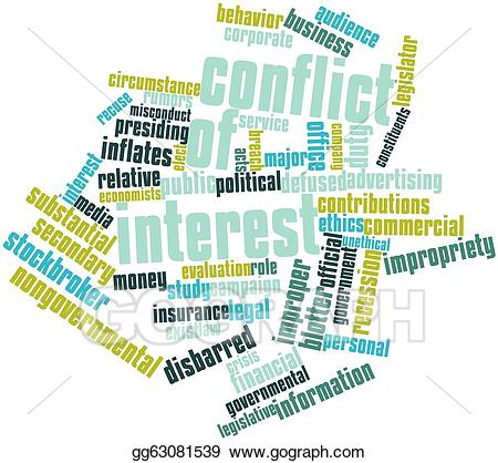 Stock illustration of interest. Conflict clipart intere