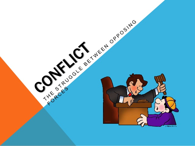 Conflict clipart literary. Identifying
