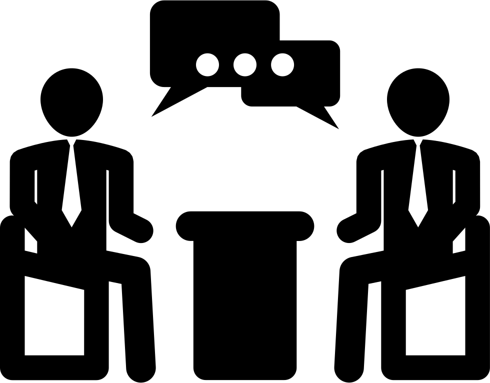 Businessmen talking in business. Conflict clipart meeting