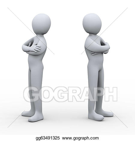 Conflict clipart person. Stock illustration d people