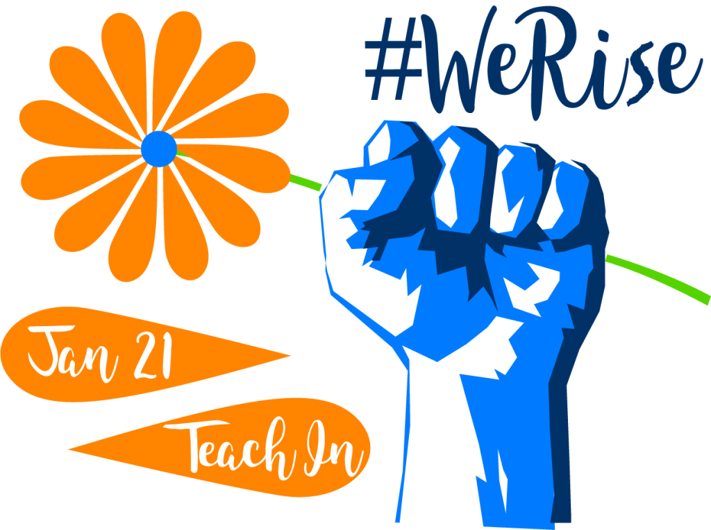 Werise a for activism. January clipart mlk day