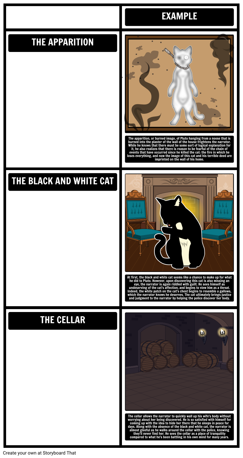 The black cat edgar. Conflict clipart rising action