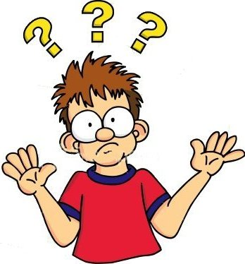 . Confused clipart