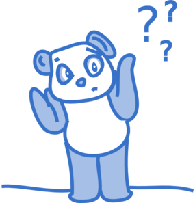 Panda clip art at. Confused clipart