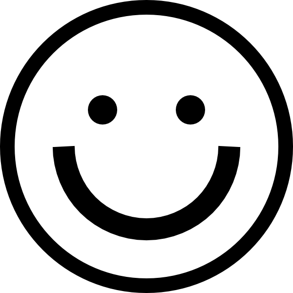 Wow clipart emoticon. Smiley face black and
