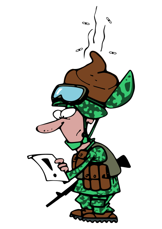 Confused cliparts funny. Fighting clipart soldier