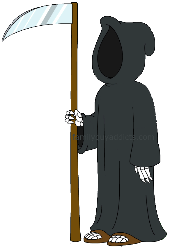 Death at the door. Worry clipart timed test