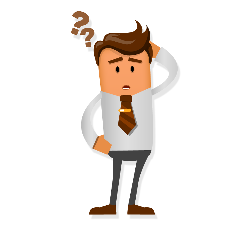 Gdpr and email marketing. Confused clipart confused person