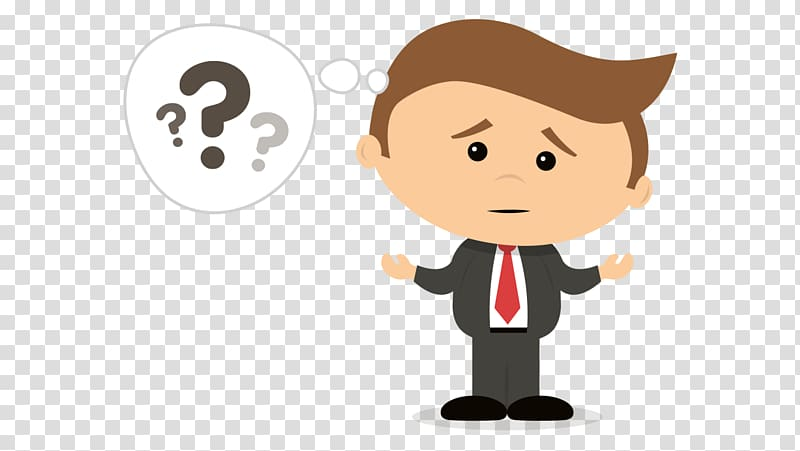 Confused clipart human thinking. Man illustration payment protection