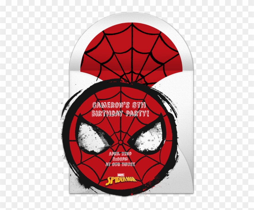 Spider man online invitation. Confused clipart iconic