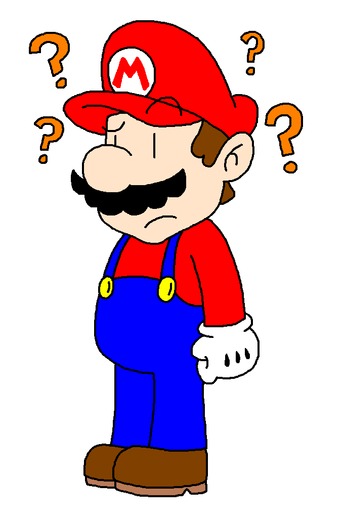 Confused clipart lost item. Mario by babyluigifanatic on