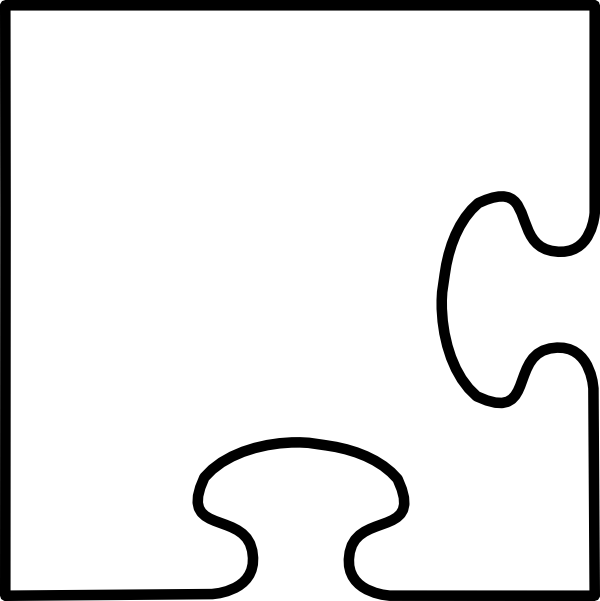 Number 4 clipart number puzzle. Piece drawing at getdrawings