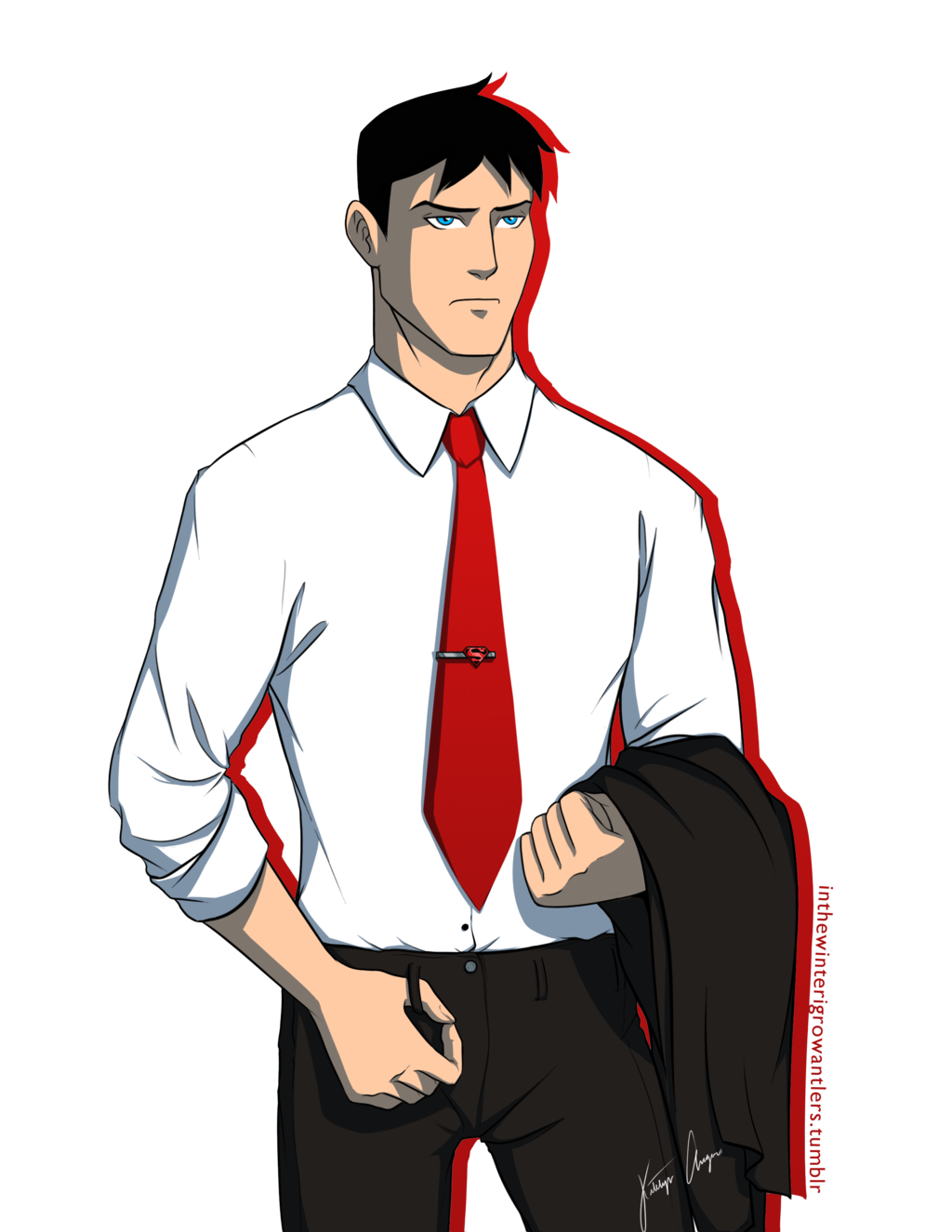 Charming conner kent by. Confused clipart qualm