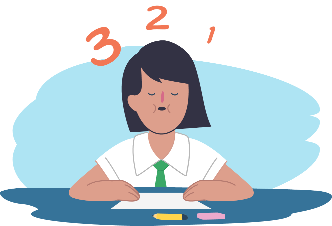 Worry clipart girl stress. Exam what is how