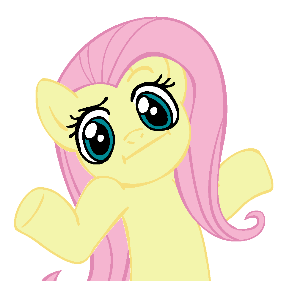 Ponies pinterest fluttershy and. Confused clipart trivia