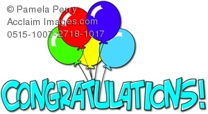Congratulations clipart. Clip art illustration of