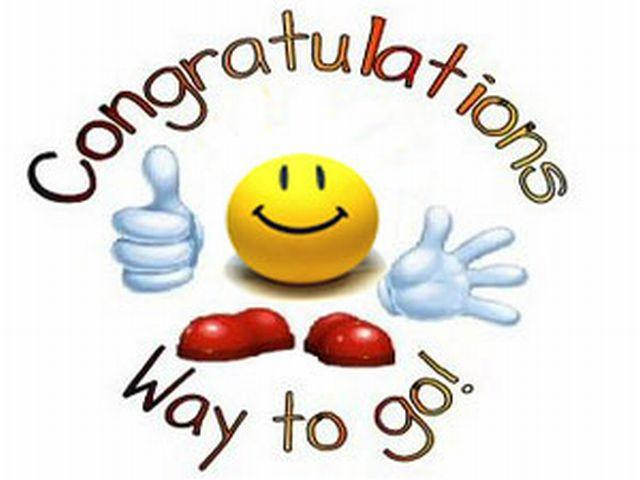 3 clipart way. Congratulations