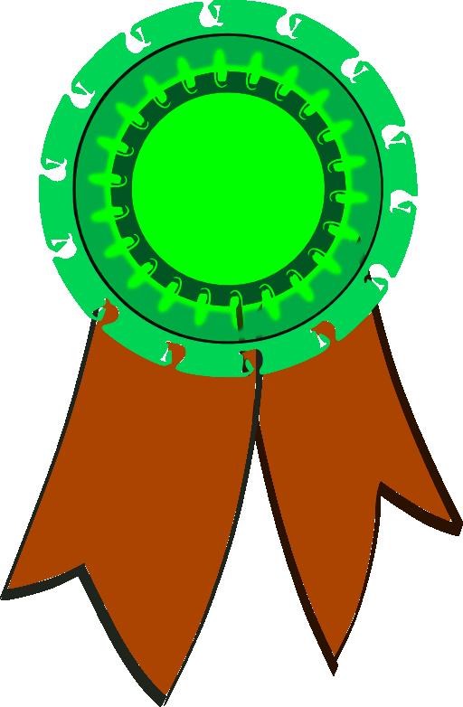 green clipart medal