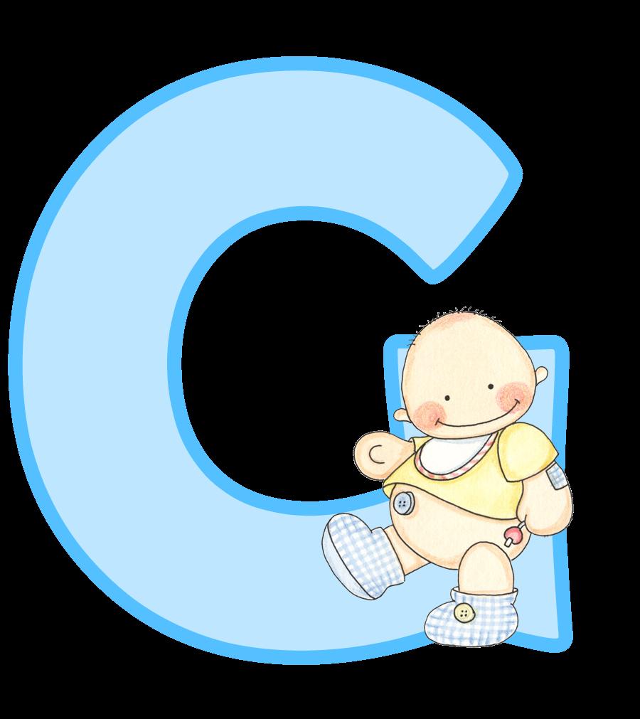 Alfabeto con lindo beb. Frames clipart baby shower
